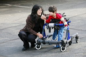 Mother and Disabled Child